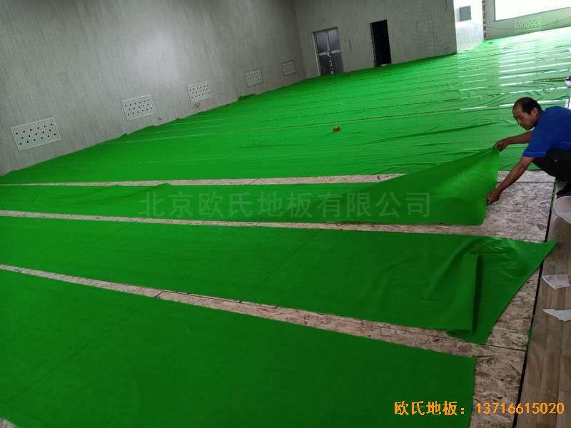 山西运城财经学校运动木地板安装案例