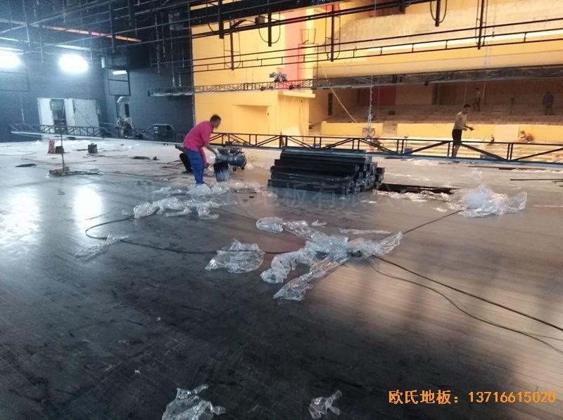河北廊坊益田同文学校舞台运动地板铺装案例