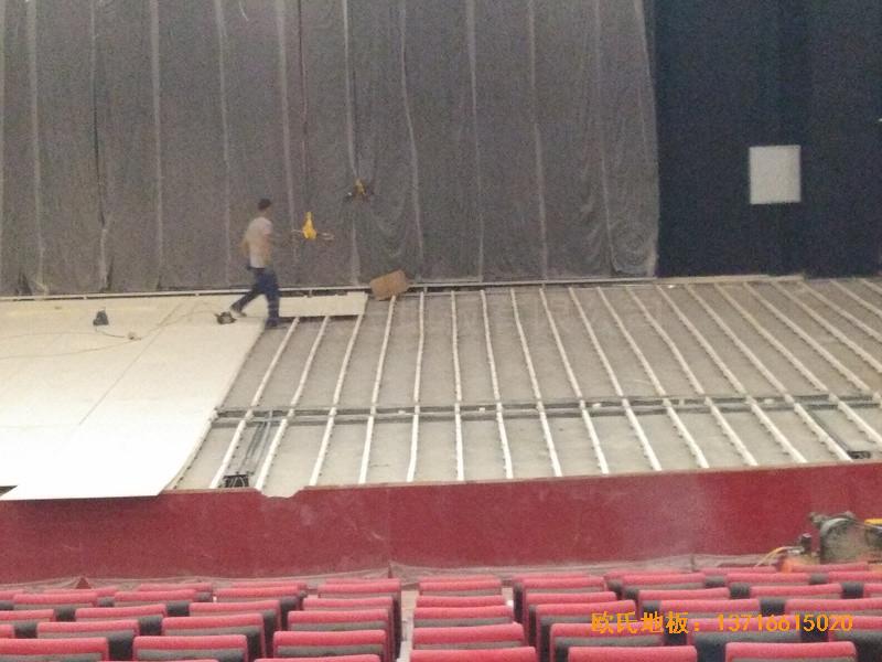 唐山师范学院舞台运动地板铺设案例0