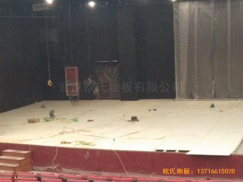 唐山师范学院舞台运动地板铺设案例1