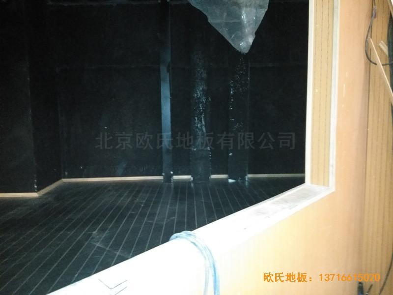 唐山师范学院舞台运动地板铺设案例3