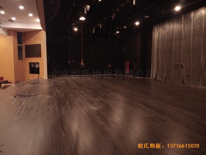 唐山师范学院舞台运动地板铺设案例5
