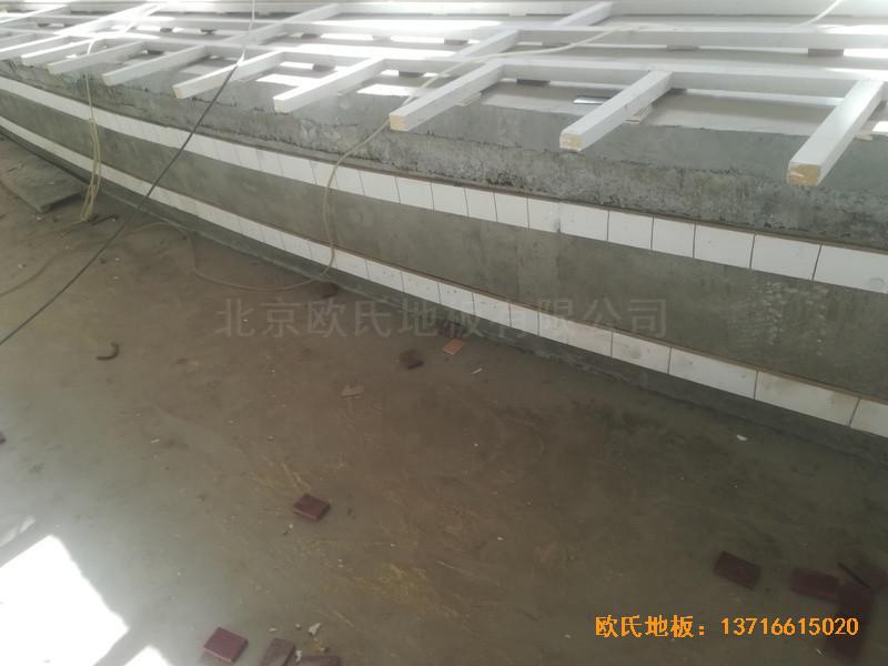 宁夏银川试验中学舞台运动木地板铺装案例1