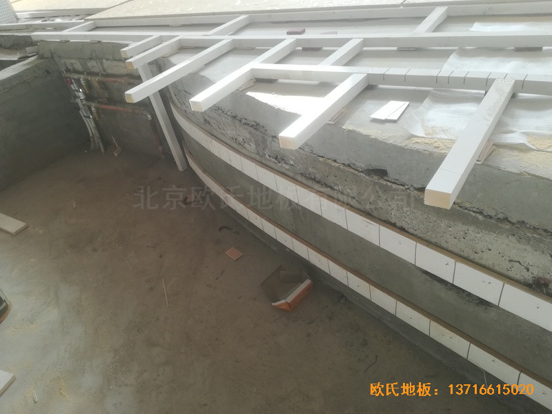 宁夏银川试验中学舞台运动木地板铺装案例2
