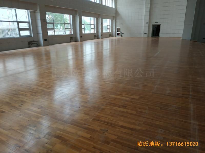 宁夏银川试验中学舞台运动木地板铺装案例4