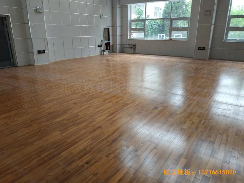 宁夏银川试验中学舞台运动木地板铺装案例5