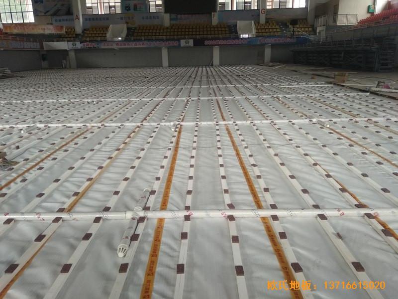 广西桂林龙胜县民族体育馆体育地板铺设案例1