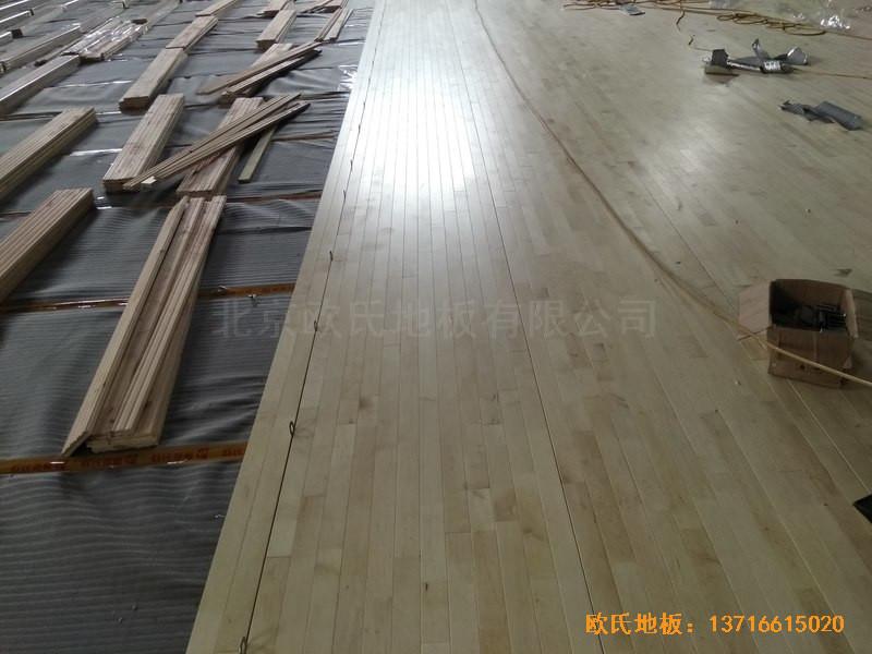 广西桂林龙胜县民族体育馆体育地板铺设案例2