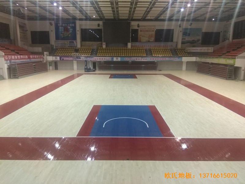 广西桂林龙胜县民族体育馆体育地板铺设案例3
