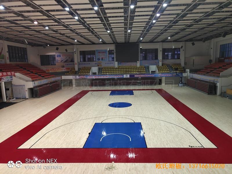 广西桂林龙胜县民族体育馆体育地板铺设案例4