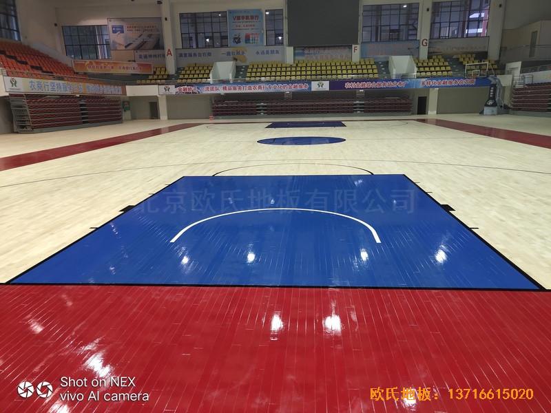 广西桂林龙胜县民族体育馆体育地板铺设案例5