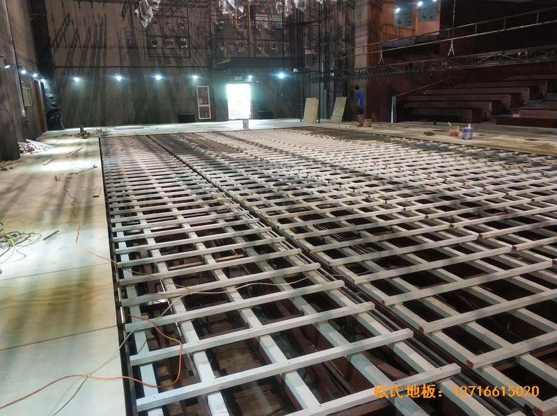 杭州职工之家舞台体育地板安装案例1