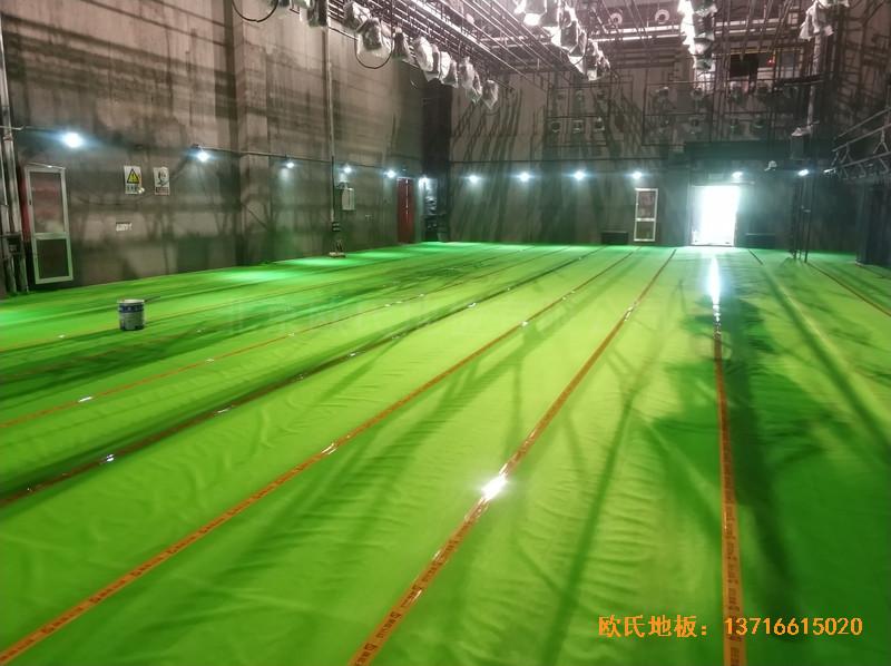 杭州职工之家舞台体育地板安装案例2