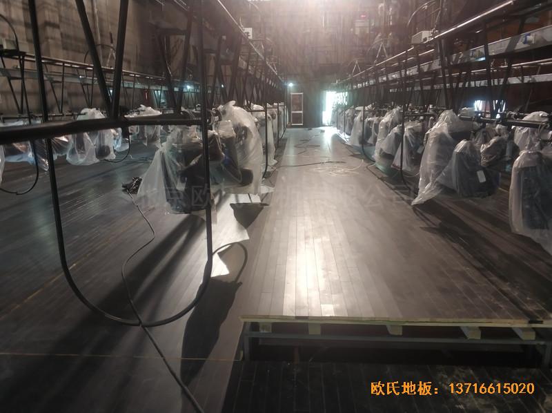 杭州职工之家舞台体育地板安装案例3