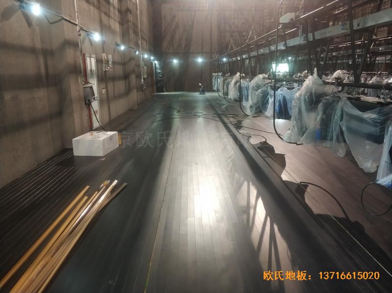 杭州职工之家舞台体育地板安装案例4