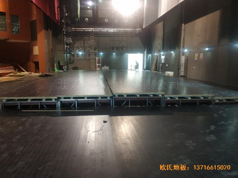 杭州职工之家舞台体育地板安装案例5
