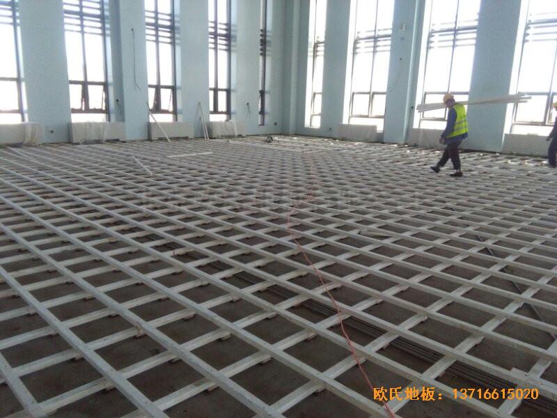 甘肃敦煌大酒店羽毛球馆运动木地板安装案例1