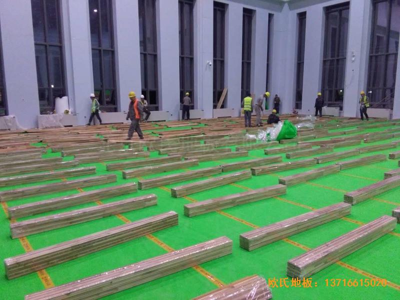 甘肃敦煌大酒店羽毛球馆运动木地板安装案例2