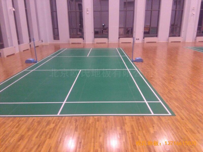 甘肃敦煌大酒店羽毛球馆运动木地板安装案例3