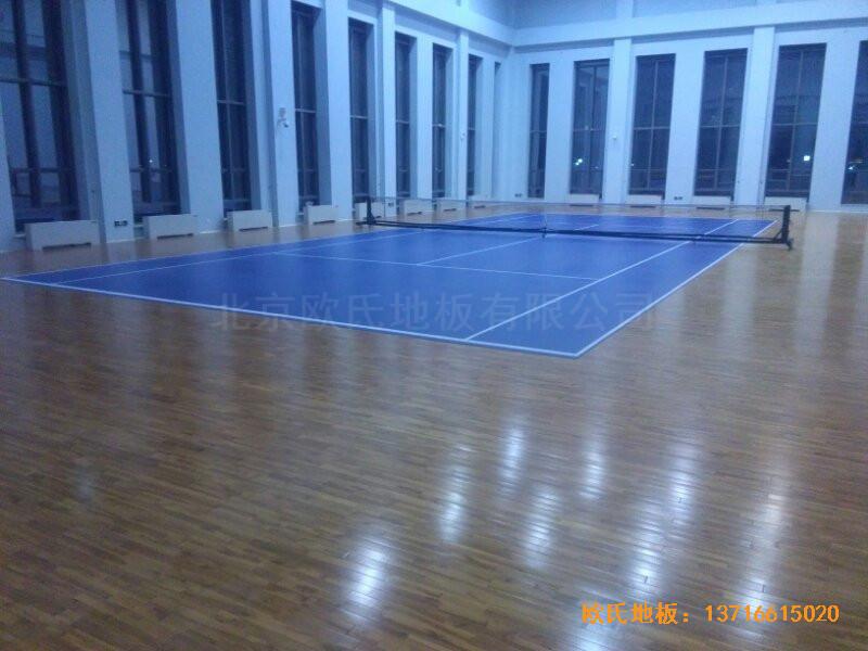 甘肃敦煌大酒店羽毛球馆运动木地板安装案例4