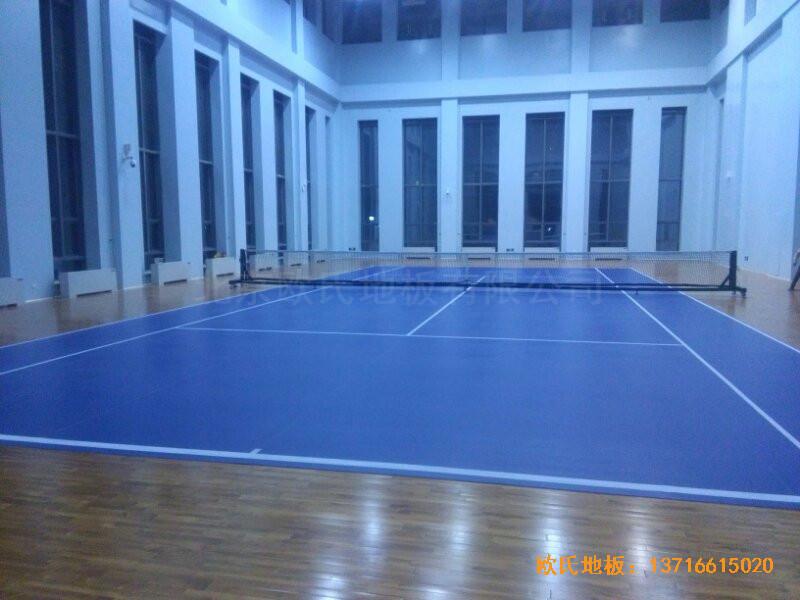 甘肃敦煌大酒店羽毛球馆运动木地板安装案例5