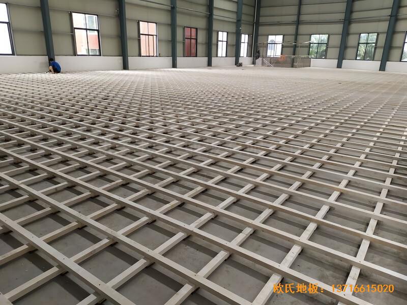 福建恒发鞋业公司篮球馆运动木地板安装案例1