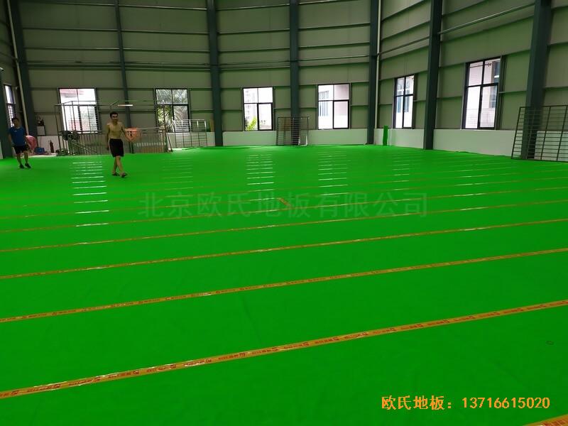 福建恒发鞋业公司篮球馆运动木地板安装案例2