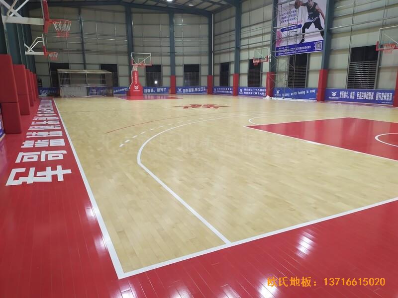 福建恒发鞋业公司篮球馆运动木地板安装案例4