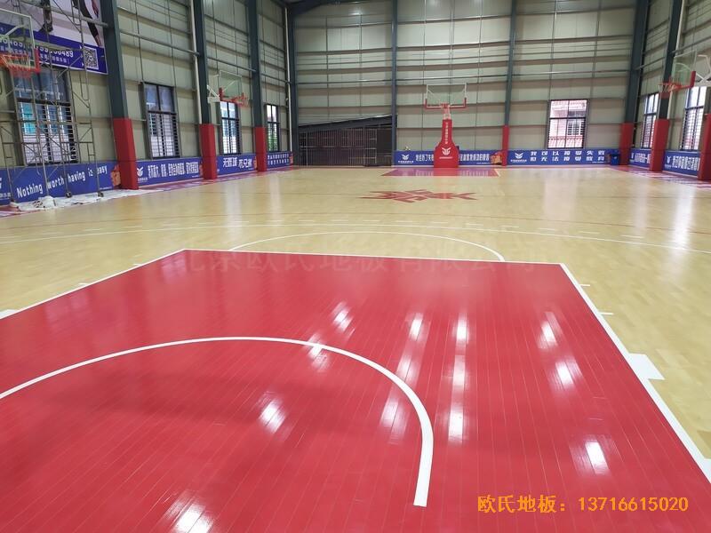 福建恒发鞋业公司篮球馆运动木地板安装案例5