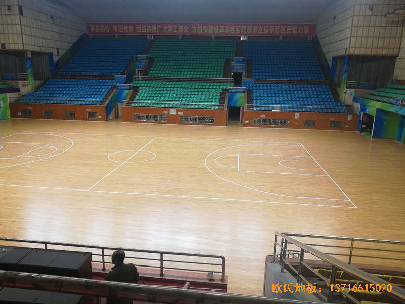 赣州体育馆运动地板施工案例1