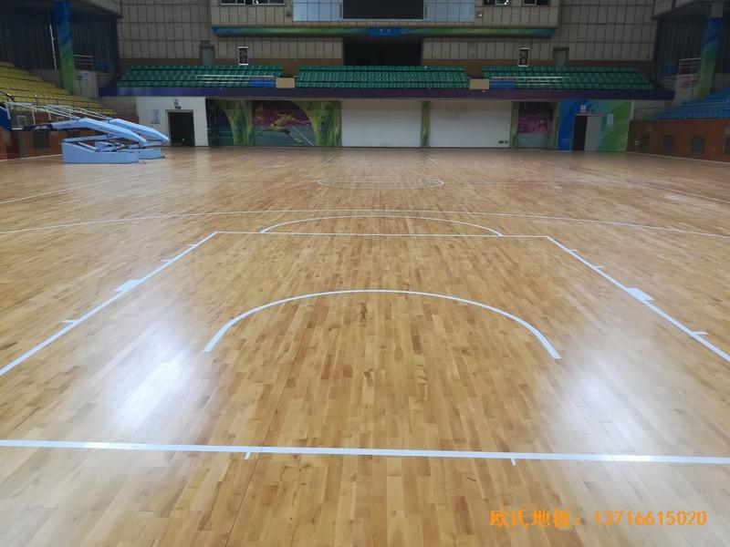 赣州体育馆运动地板施工案例2