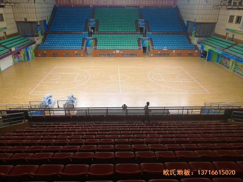 赣州体育馆运动地板施工案例4