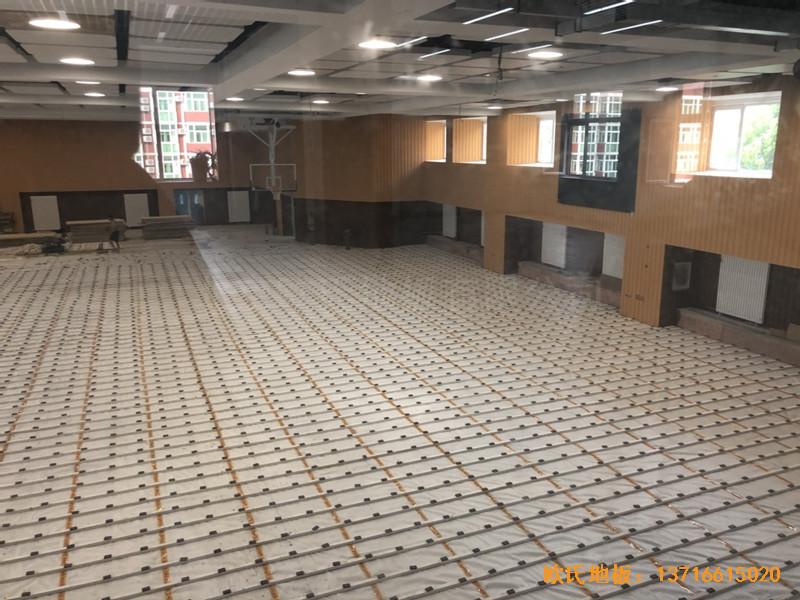 北京昌平新东方体育馆运动地板铺装案例2