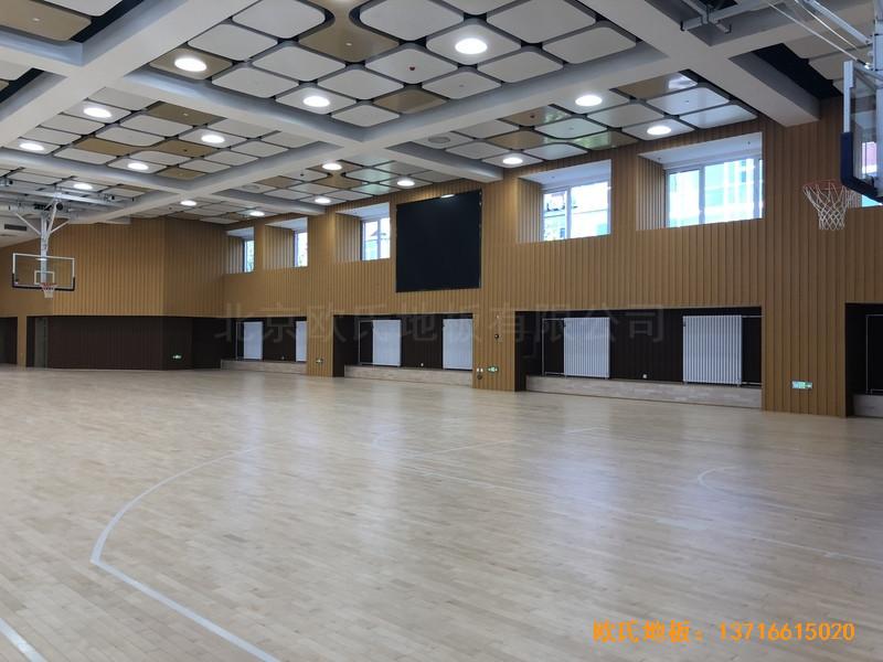 北京昌平新东方体育馆运动地板铺装案例3