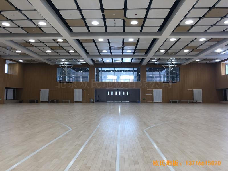 北京昌平新东方体育馆运动地板铺装案例5