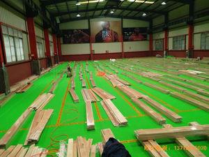 湖南长沙雨花区78号球馆体育地板安装案例