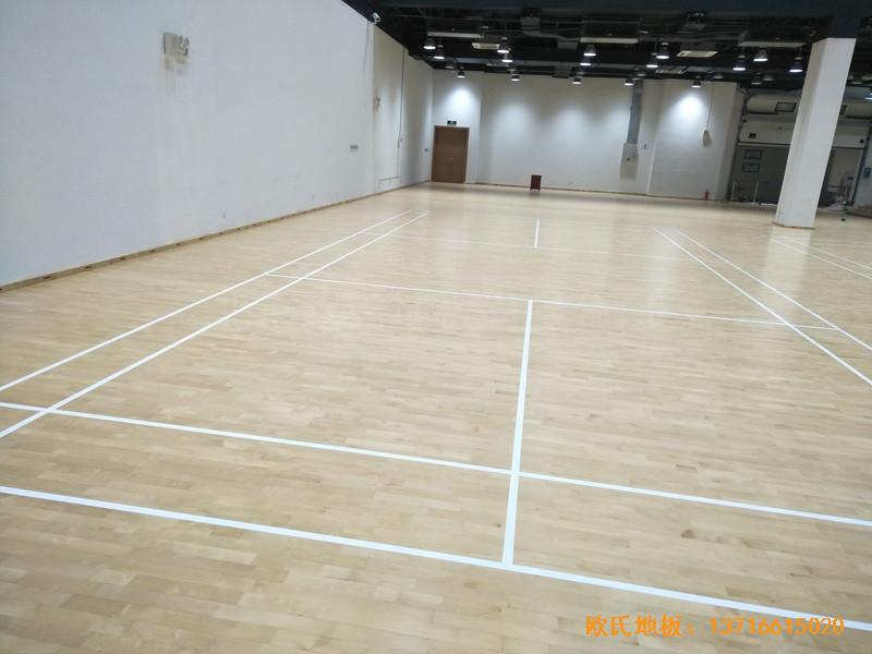 上海铺东宁桥路669号体育馆体育木地板安装案例