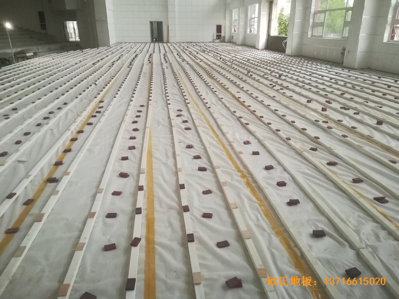 宁夏银川试验中学舞台运动木地板铺装案例