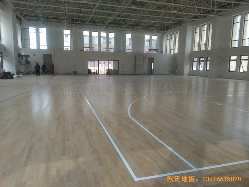 山东济南唐冶城篮球馆运动木地板施工案例