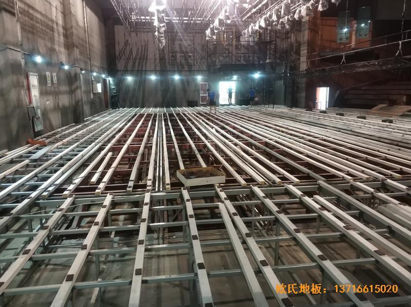 杭州职工之家舞台体育地板安装案例