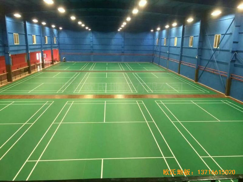 北京莲石羽羽毛球俱乐部运动木地板安装案例