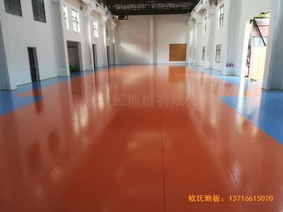 南昌赤练排球馆运动木地板施工案例
