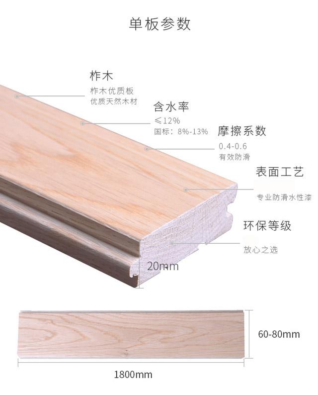 柞木一级运动木地板单板参数
