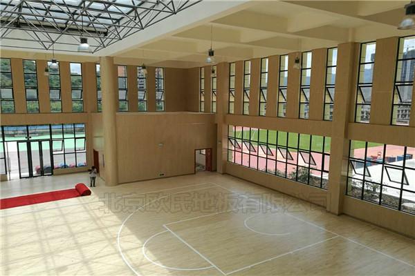 四川泸州市叙永县城西实验学校运动木地板铺设工程