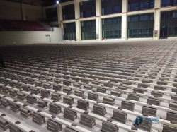 45度斜铺龙骨体育场木地板