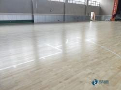 专业篮球场地地板施工